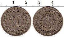 Изображение Монеты Европа Германия 20 пфеннигов 1888 Медно-никель XF