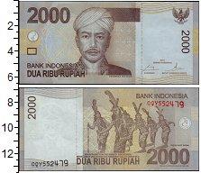 Изображение Банкноты Азия Индонезия 2000 рупий 2015  UNC