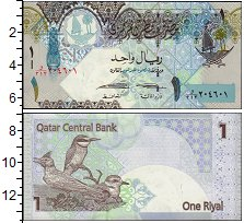 Изображение Банкноты Азия Катар 1 риал 2008  UNC