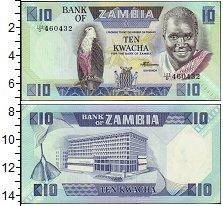 Изображение Банкноты Африка Замбия 10 квача 1986  UNC