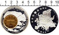 Изображение Монеты Либерия 1 доллар 2002 Посеребрение Proof