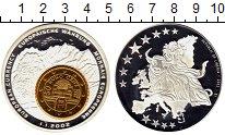 Изображение Монеты Либерия 1 доллар 2002 Посеребрение Proof Европейская валюта-е