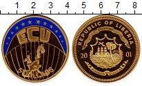 Изображение Монеты Либерия 5 долларов 2001 Латунь Proof Европа, Экю