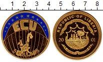 Изображение Монеты Либерия 5 долларов 2001 Латунь Proof