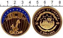 Изображение Монеты Африка Либерия 5 долларов 2000 Латунь Proof