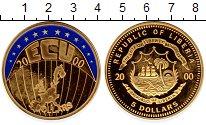 Изображение Монеты Либерия 5 долларов 2000 Латунь Proof