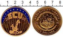 Изображение Монеты Либерия 5 долларов 2000 Латунь Proof Европа, Экю