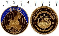 Изображение Монеты Либерия 5 долларов 2003 Латунь Proof Европа