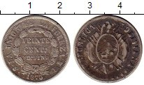 Изображение Монеты Южная Америка Боливия 20 сентаво 1875 Серебро VF