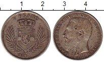 Изображение Монеты Бельгийское Конго 1 франк 1887 Серебро XF Леопольд II