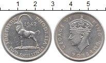 Изображение Монеты Великобритания Родезия 2 шиллинга 1942 Серебро XF