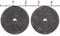 Изображение Монеты Бельгия 10 сантим 1945 Цинк XF