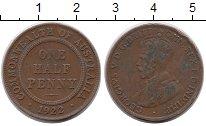 Изображение Монеты Австралия 1/2 пенни 1922 Бронза XF