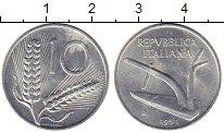 Изображение Монеты Италия 10 лир 1954 Алюминий UNC-