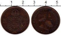 Изображение Монеты Южная Америка Бразилия 20 рейс 1869 Бронза XF
