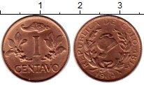 Изображение Монеты Южная Америка Колумбия 1 сентаво 1969 Бронза XF