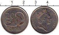Изображение Монеты Фиджи 20 центов 2009 Медно-никель XF