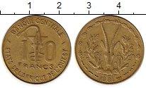 Изображение Монеты Западная Африка 10 франков 1981 Латунь XF