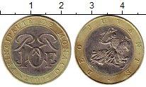 Изображение Монеты Монако 10 франков 2000 Биметалл XF