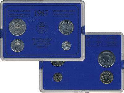 Изображение Подарочные монеты Европа Швеция Набор монет 1987 года 1987  UNC