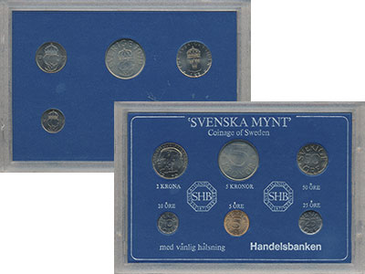 Изображение Подарочные монеты Европа Швеция Набор монет 1979 года 1979  UNC-