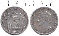 Изображение Монеты Германия Саксония 1 талер 1871 Серебро VF