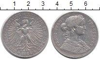 Изображение Монеты Европа Франфуркт 1 талер 1864 Серебро XF-