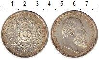 Изображение Монеты Германия Вюртемберг 5 марок 1908 Серебро UNC-