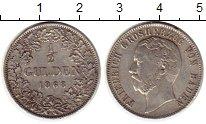 Изображение Монеты Баден 1/2 гульдена 1868 Серебро XF- Фридрих