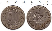 Изображение Монеты Центральная Африка 50 франков 1961 Медно-никель XF
