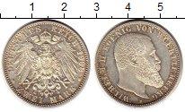 Изображение Монеты Вюртемберг 2 марки 1908 Серебро UNC-