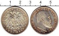 Изображение Монеты Германия Вюртемберг 2 марки 1913 Серебро UNC-