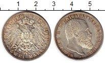 Изображение Монеты Германия Вюртенберг 2 марки 1904 Серебро UNC-