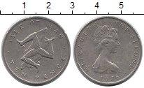 Изображение Монеты Остров Мэн 10 пенсов 1976 Медно-никель XF-