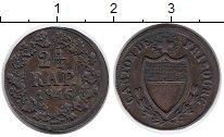 Изображение Монеты Швейцария Фрибург 2 1/2 раппа 1846 Серебро XF