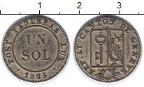 Изображение Монеты Женева 1 соль 1825 Серебро XF