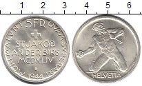 Изображение Монеты Швейцария 5 франков 1944 Серебро UNC-