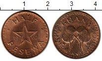 Изображение Монеты Гана 1/2 песева 1967 Бронза UNC-
