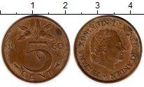 Изображение Монеты Европа Нидерланды 5 центов 1960 Бронза XF