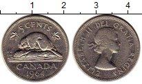 Изображение Монеты Северная Америка Канада 5 центов 1964 Медно-никель XF