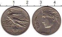 Изображение Монеты Италия 20 сентесим 1922 Медно-никель XF Летящая богиня