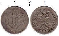 Изображение Монеты Европа Австрия 10 геллеров 1895 Медно-никель XF