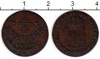 Изображение Монеты Европа Австрия 1/4 крейцера 1816 Медь XF-