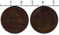 Изображение Монеты Европа Австрия 1 крейцер 1816 Медь VF