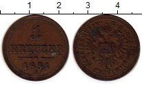 Изображение Монеты Австрия 1 крейцер 1851 Медь XF А
