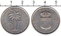 Изображение Монеты Бельгийское Конго 5 франков 1938 Алюминий XF