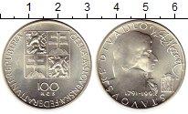 Изображение Монеты Чехословакия 100 крон 1991 Серебро UNC- 200 лет со дня смерт