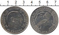 Изображение Монеты Дания 10 крон 1972 Серебро UNC-