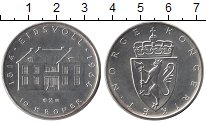 Изображение Монеты Норвегия 10 крон 1964 Серебро UNC-