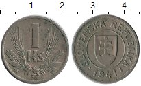 Изображение Монеты Европа Словакия 1 крона 1941 Медно-никель XF
